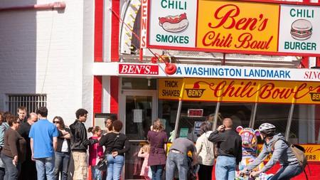 Ben's Chili Bowl diner in Washington DC, home of the half-smoke