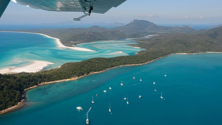 Aerial View of Hill Inlet, Whitsunday Islands