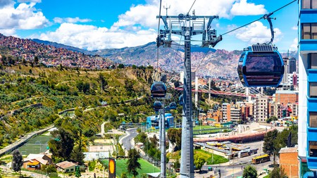Get around the city on the world's largest urban cable car network