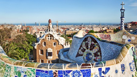 Park Güell, designed by Antoni Gaudí, is the most famous park in Barcelona and a World Heritage Site