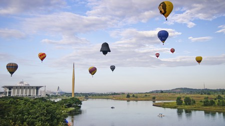 Spot Darth Vader! Hot air ballooning is one idea if you're looking for adventure in Kuala Lumpur