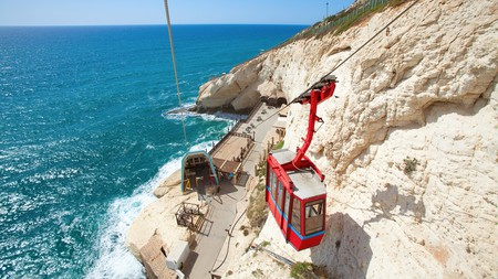 Taking the cable car down to the Rosh HaNikra grottoes affords sumptuous views
