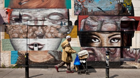 In addition to its restaurants, street-food stalls, bars and vintage shops, Brick Lane is also home to some amazing street art