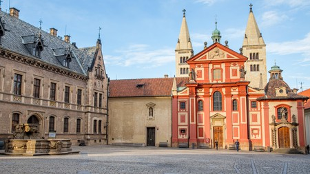 St. George's Basilica in Prague Castle, one of many beautiful churches in the Czech capital