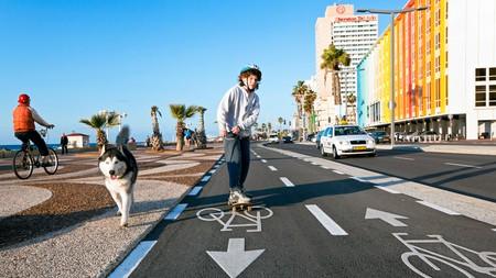 Rolling down Tel Aviv's colourful beach promenade