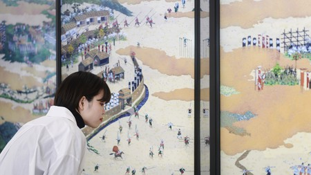 Shigeta Yusuke's artwork, on display as part of CULTURE GATE to JAPAN, is inspired by samurai warriors