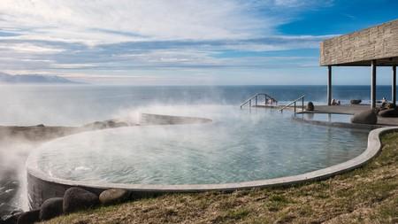 GeoSea thermal sea baths, an outdoor spa in Húsavík, northern Iceland