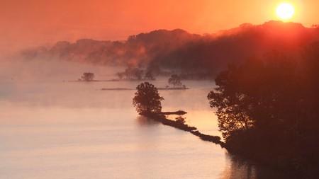 Arkansas, Little Rock, Arkansas River in the Autumn
