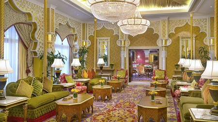 There's a palatial feel at the Waldorf Astoria Jeddah