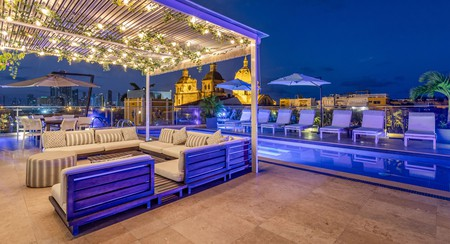 Many of the boutique hotels in Cartagena's old city have magnificent rooftop pools