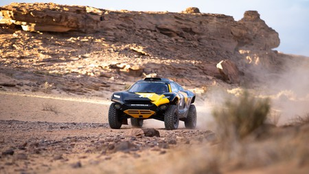 The first race of Extreme E takes place in April 2021 in Saudi Arabia