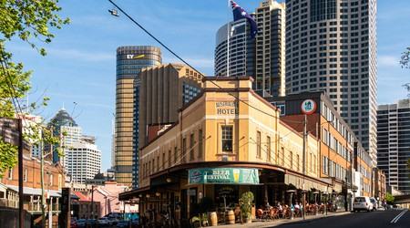 Enjoy a Coat of Arms pizza topped with kangaroo and emu meat at the Australian Heritage Hotel
