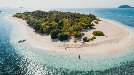 The island of Pamalican is known for its immaculate shoreline and vibrant marine life