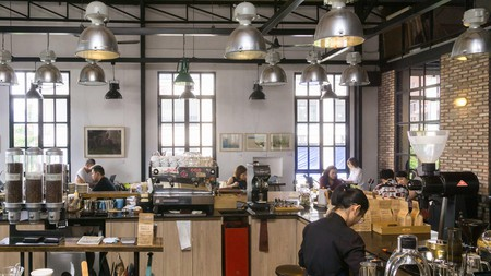 The Workshop offers an ideal environment for working or catching up with friends over a cup of coffee