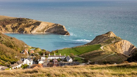 Lulworth Cove is just one of many scenic spots on the Jurassic Coast, in Dorset