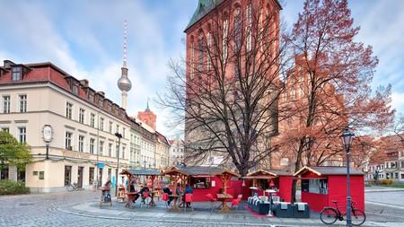 Winter market in Berlin's historic centre