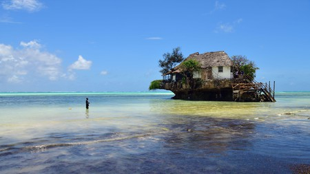 The Rock restaurant offers arguably the best dining experience in Zanzibar