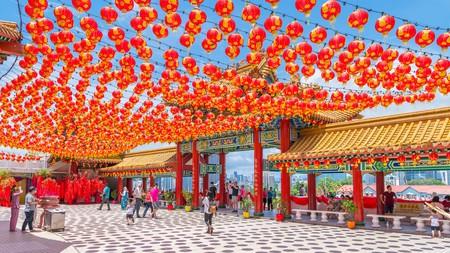 Thean Hou Temple, a large Chinese temple in Kuala Lumpur, Malaysia © Ian Dagnall / Alamy