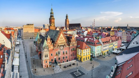 Wrocław's Market Square is a colourful confection