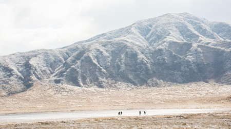 Take a detour to view Mount Aso, which is easy to reach by road