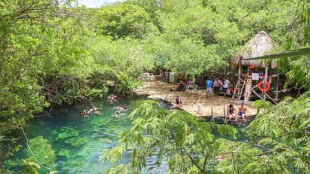 Take a cooling dip in Cenote Cristalino, Tulum