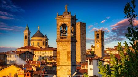 Take time to admire the Citta Alta in Bergamo at sunrise