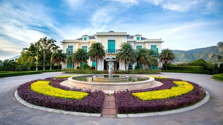 The Château de Khaoyai Hotel and Resort has a beautiful garden perfect for strolling