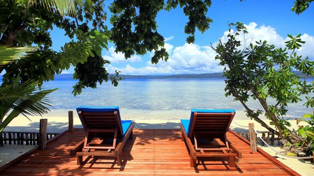 Spend your days diving or relaxing at Raja Ampat Dive Lodge