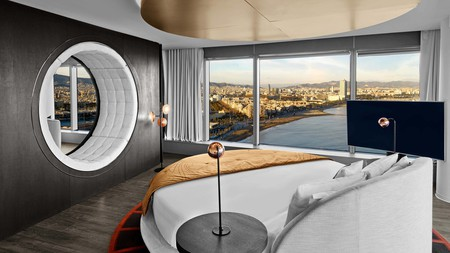 Book a room in the W Hotel for dreamy views over the Mediterranean