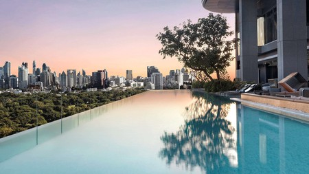 Bangkok's SO Sofitel – and its infinity pool – overlooks the green oasis of Lampini Park in central Bangkok, and is dedicated to sustainability as much as it is to comfort, style and luxury