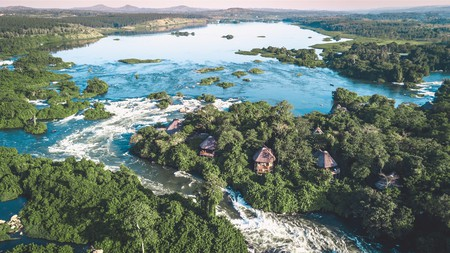 Stunning Wildwaters Lodge is accessible only by boat