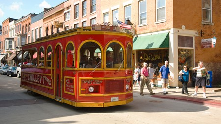Take a trolley tour of Galena before checking out the sights on Main Street