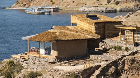 Cuddle up and enjoy romantic views over Lake Titicaca at Amantica Lodge