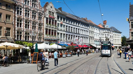 The Korenmarkt in the historic centre of Ghent