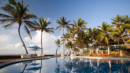 The pristine, luxurious pool area at Hemingways in the heart of Kenya's Watamu Marine National Park