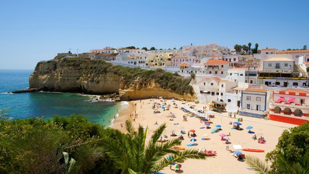 You can enjoy the Algarve's beautiful beaches, like Praia do Carvoeiro, on a budget thanks to the range of great affordable places to stay