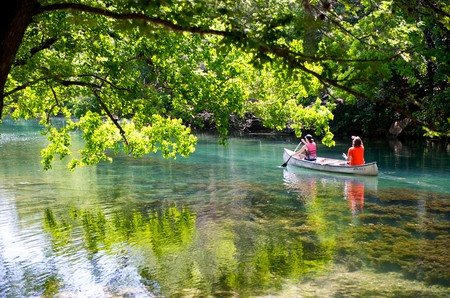 Take to the water in Austin and glide down the Colorado River in Zilkar Park