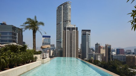 Take in the Hong Kong skyline from the rooftop pool at K11 Artus