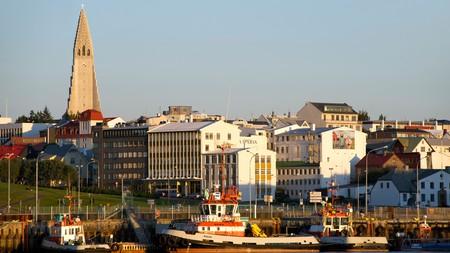 View of the Reykjavik skyline, including Hallgrimskirkja church