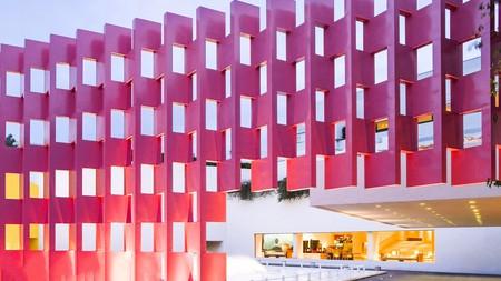 The striking façade of the Camino Real Polanco in Mexico City was designed by the architect Ricardo Legorreta