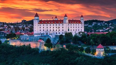 Catch a sunset overlooking Bratislava Castle on a trip to Slovakia