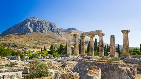 As men talk in a dream, so Corinth all, wrote the poet Keats of this ancient city, with its still-surviving temples to Aphrodite and Apollo