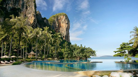 Rayavadee is the most luxurious of the resorts in the postcard-perfect paradise of Railay Beach