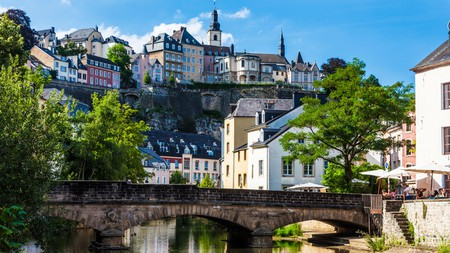 Ville Haute, the old town of Luxembourg City, is home to charming architecture overlooking the river Alzette
