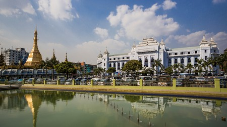 Make sure to stop by Yangon City Hall to marvel at its architecture when visiting Myanmar