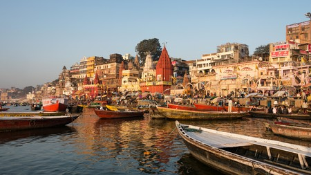 The ancient Ghats of Varanasi dazzle the senses with their holy happenings