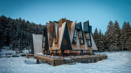 Nestled on the slopes of Trebevic Mountain, the strikingly designed Pino Nature Hotel immerses you in  nature while being close to Sarajevo