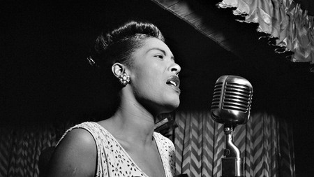 American jazz singer and songwriter Billie Holiday performs in New York City