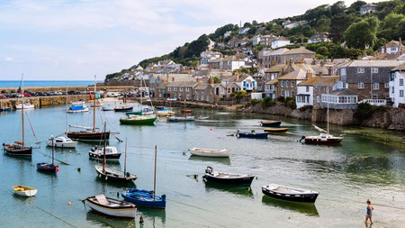 The harbour in Mousehole, Cornwall, England, UK