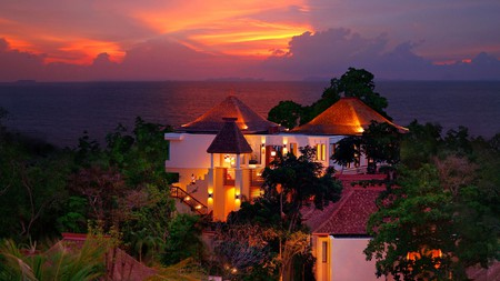Sunset as seen from Crown Lanta Resort and Spa, one of Koh Lanta's best hotels